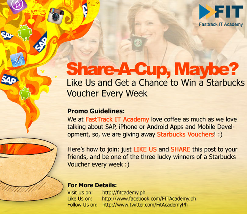 Share A Cup, Maybe? Facebook Promo
