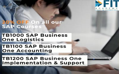 End 2021 with a Bang!!! 20% OFF on SAP Business One, Mobile Development and CompTIA Courses!